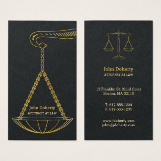 GoldenScales Of Justice   Professional Lawyer Business Card
