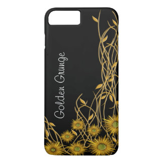 GoldenYellow Grunge Flower & Vine iPhone 8 Plus/7 Plus Case