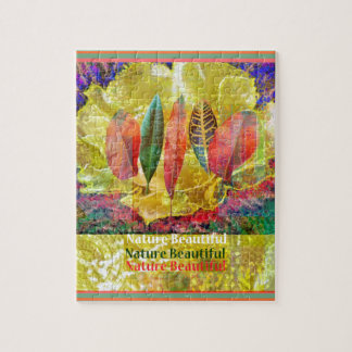 Goldern Flower and Leaves Nature Beautiful Jigsaw Puzzle