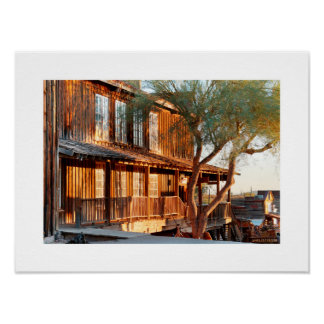 Goldfield Old West Town - Mammoth Hill View Poster