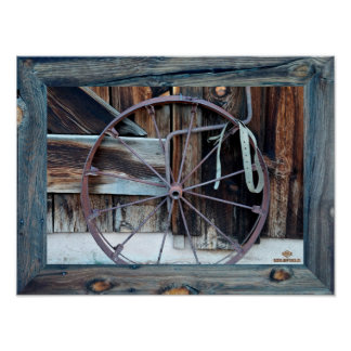 Goldfield Old West Town - The Iron Wheel Poster