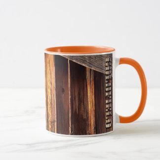 Goldfield Old West Wood Grain mug - orange