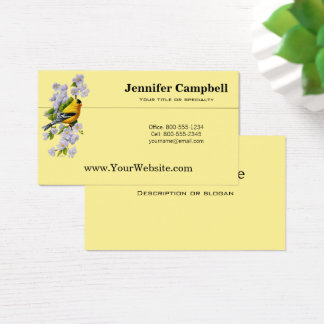 Goldfinch and White Apple Blossoms Business Card