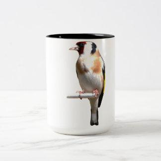 GOLDFINCH BIRD,FINCH,FINCHES BIRDS Two-Tone COFFEE MUG