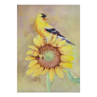 GOLDFINCH by SHARON SHARPE Poster