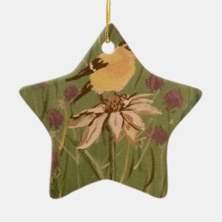 goldfinch ceramic ornament