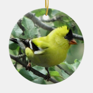 Goldfinch Ceramic Ornament