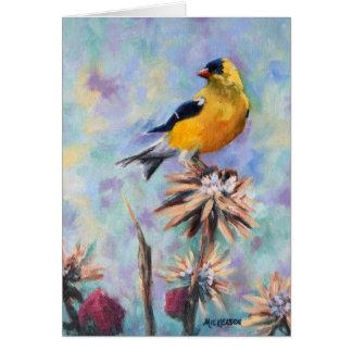 Goldfinch Fine Art Card