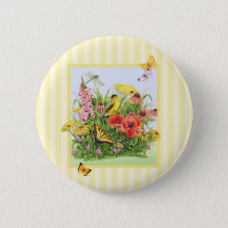 Goldfinch Garden 6 Cm Round Badge