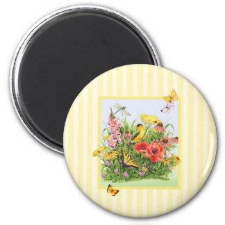 Goldfinch Garden 6 Cm Round Magnet