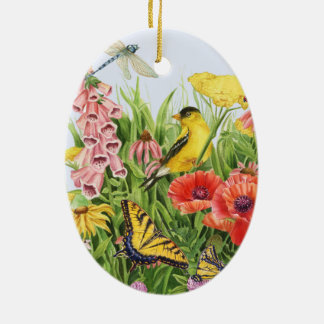 Goldfinch Garden Ceramic Ornament