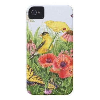 Goldfinch Garden iPhone 4 Cases