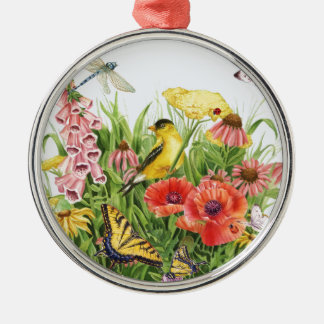 Goldfinch Garden Metal Ornament