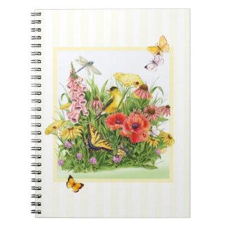 Goldfinch Garden Spiral Notebook