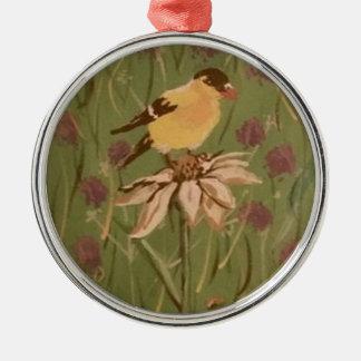goldfinch metal ornament