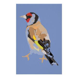 Goldfinch modern illustration stationery