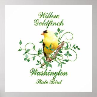 Goldfinch Washington State Bird Poster