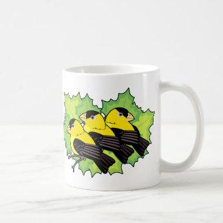 goldfinches coffee mug