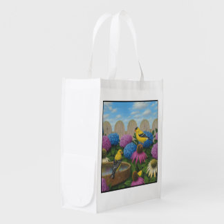 Goldfinches Reusable Grocery Bag