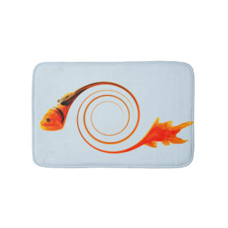 Goldfish Abstract Art Bath Mat