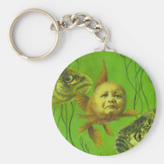 Goldfish Baby Mutant Design Basic Round Button Key Ring