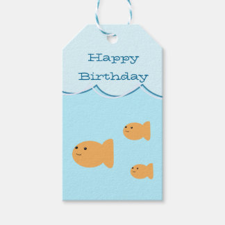 Goldfish Birthday Party Gift Tags