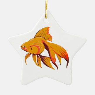 Goldfish Ceramic Star Decoration