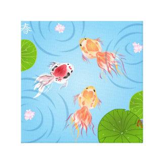 Goldfish Day Square Canvas Print
