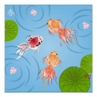 Goldfish Day Square Poster