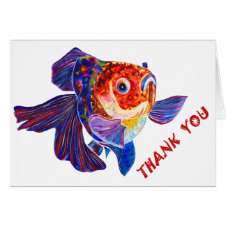 "Goldfish design ""thank you"" greeting card"