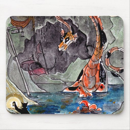 Goldfish Dragon's Lair Mousepad