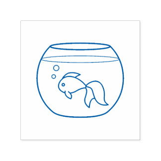 Goldfish in a Fish Tank Self-inking Stamp