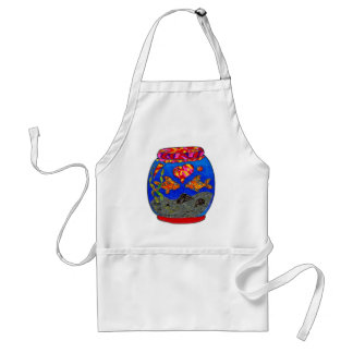 Goldfish in glass bowl standard apron