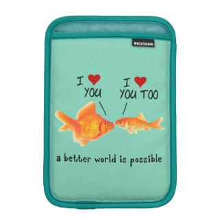 Goldfish in love I heart You Sleeve For iPad Mini