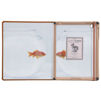 Goldfish in separate fishbowls looking face to fac iPad folio cover