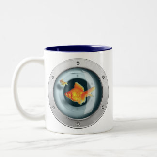 Goldfish in your Chest Two-Tone Coffee Mug