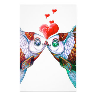 Goldfish Kiss Stationery Paper