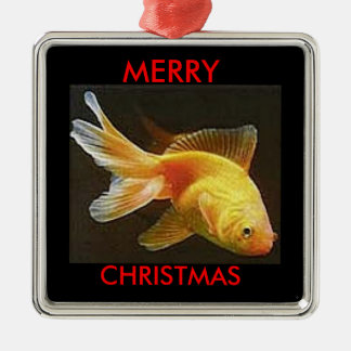 Goldfish Merry Christmas Ornaments