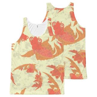 goldfish patterned Unisex Tank