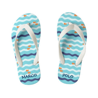 Goldfish Personalized Flip Flops Thongs