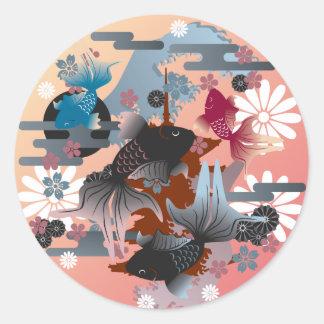 Goldfish Round Sticker