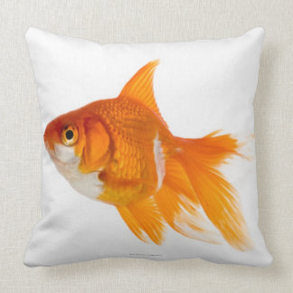 Goldfish, side view throw pillow