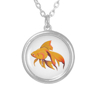Goldfish Silver Plated Necklace