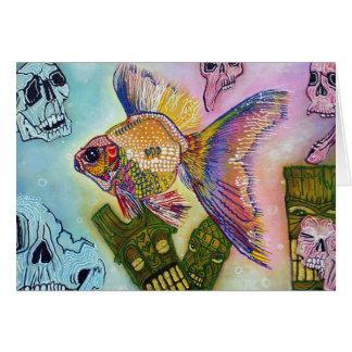 Goldfish Spirits Greeting Card
