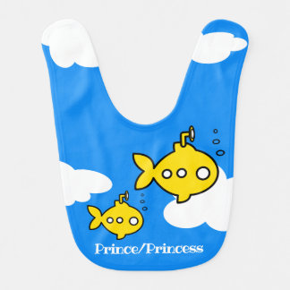 Goldfish submarine flying bib