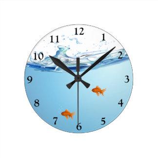 Goldfish under water aquarium clocks
