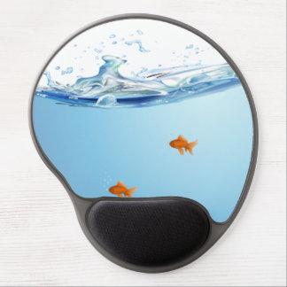 Goldfish under water aquarium gel mouse pad