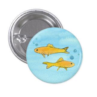 Goldfish Watercolor 3 Cm Round Badge
