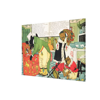 Goldilocks and the Three Bears Stretched Canvas Prints