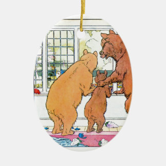 Goldilocks and The Three Bears Ceramic Ornament
